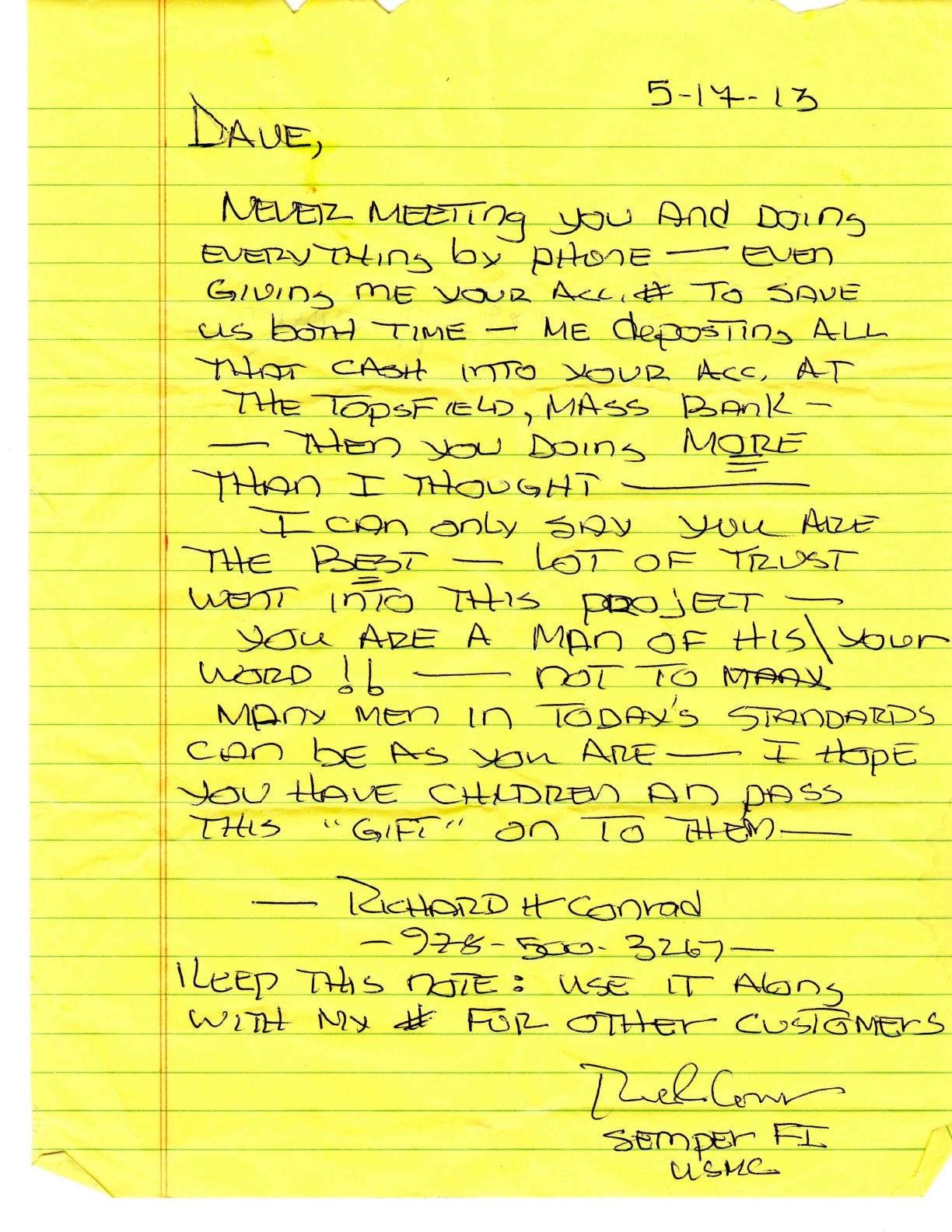 Testimonial Richard Conrad