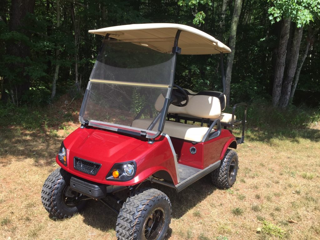 $4999 Club Car DS SPARTAN electric customized lifted 4 pass golf cart – $4999