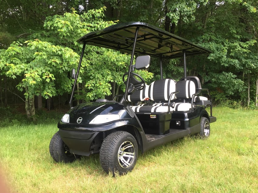 NEW Advanced EV 6 pass Golf Cart LIMO w/Toyota AC Drive Quick Shuttle
