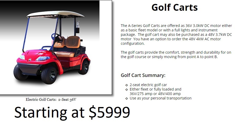 ADEV Golf cart 5999a
