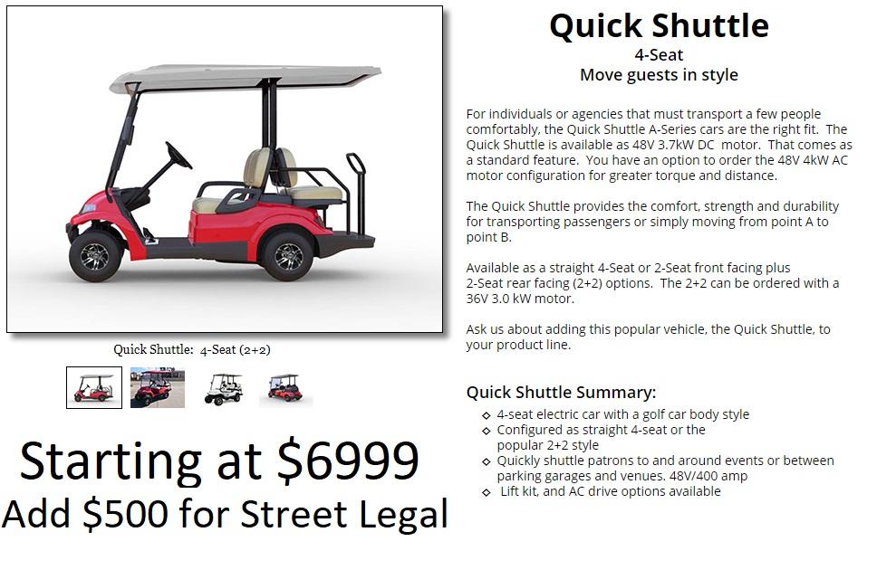 quick shuttle 6999